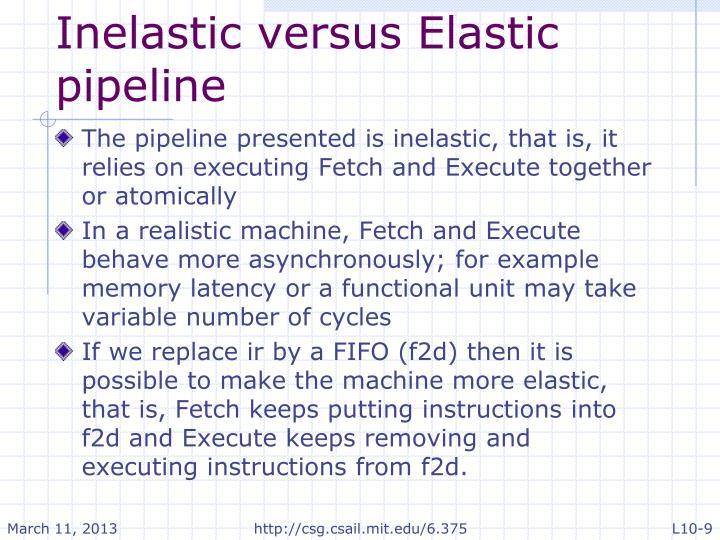Inelastic versus Elastic pipeline