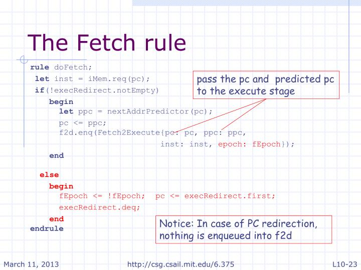 The Fetch rule