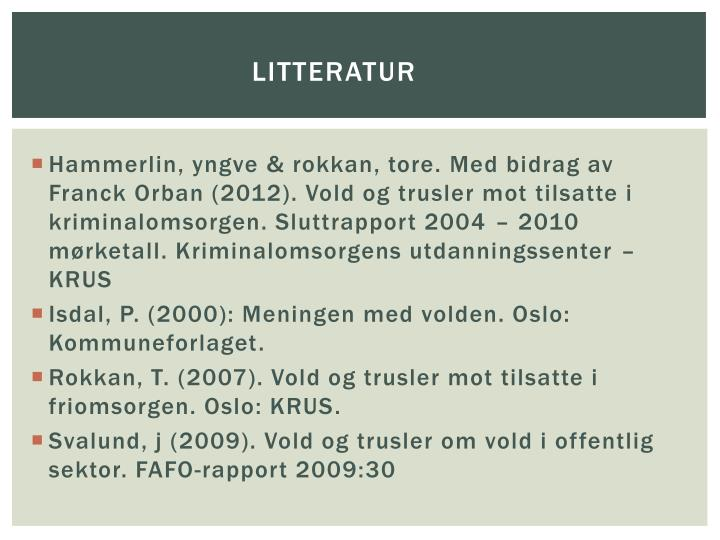 Litteratur