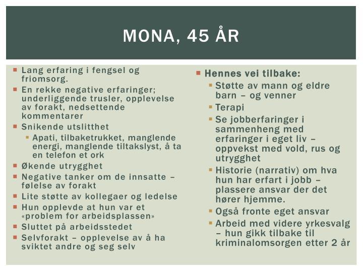 Mona, 45 år