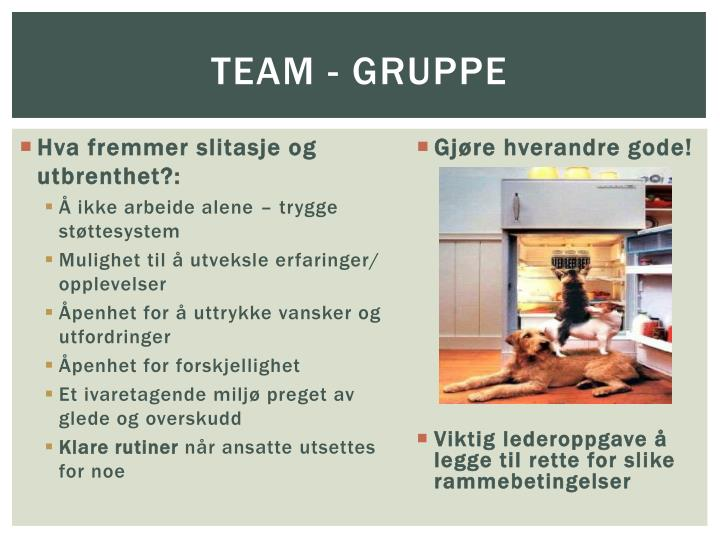 Team - gruppe