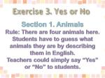 exercise 3 yes or no