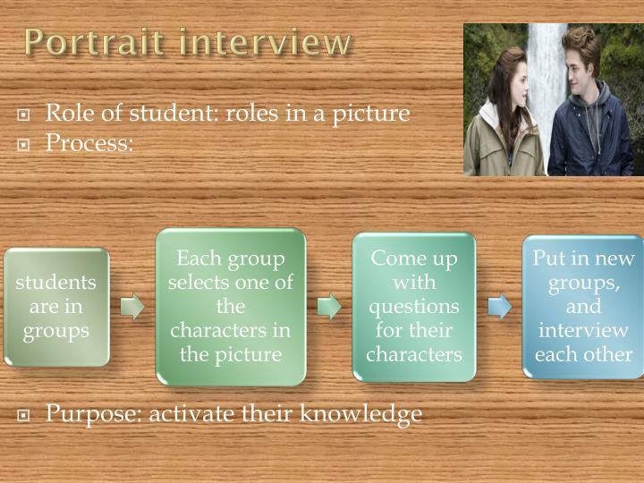 Portrait interview