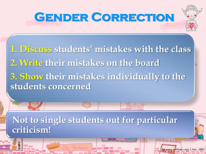 Gender Correction