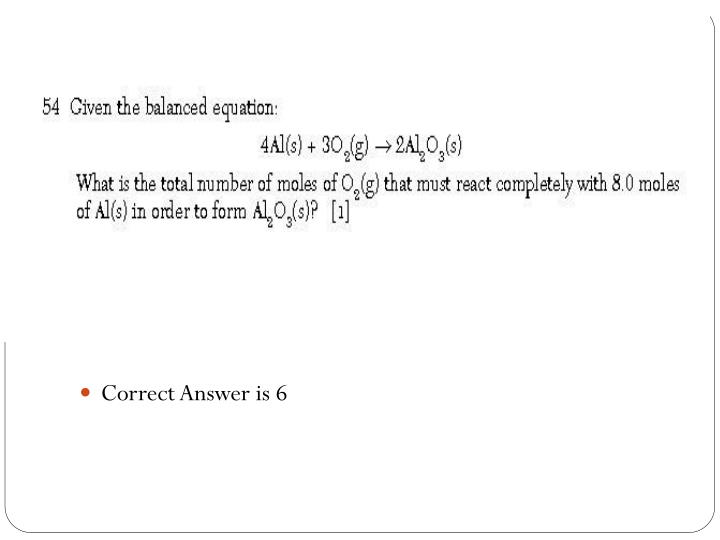 Correct Answer is 6