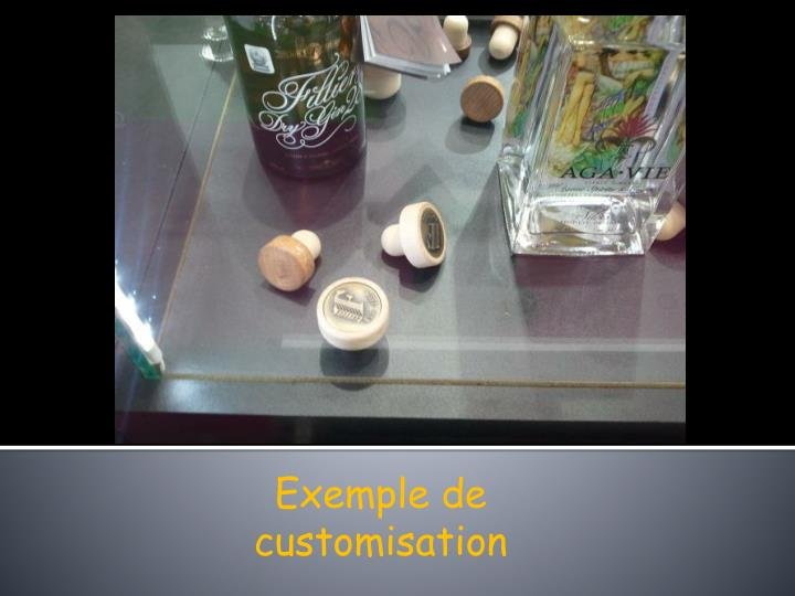 Exemple de customisation