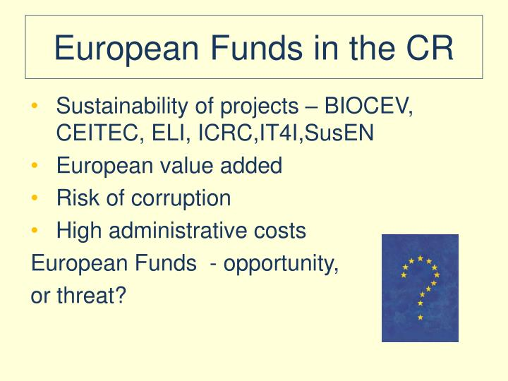 European Funds in the CR