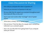 class discussion sharing