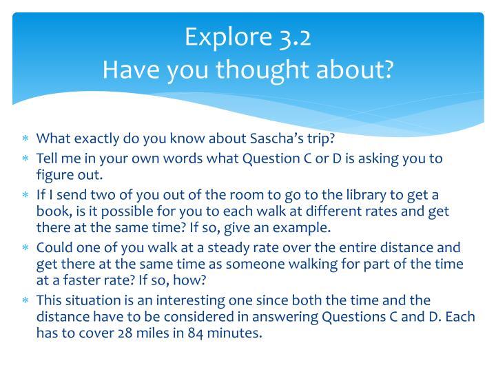 Explore 3.2