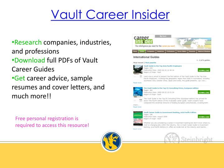 Vault Career Insider