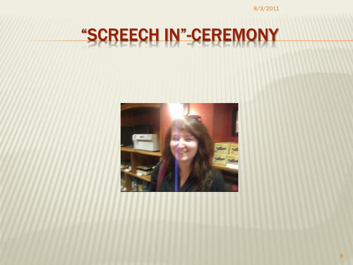 """Screech In""-Ceremony"