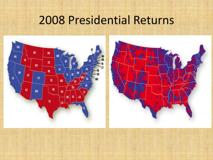 2008 Presidential Returns