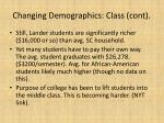 changing demographics class cont