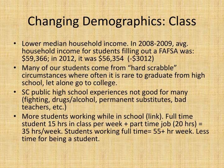 Changing Demographics: Class