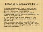 changing demographics class