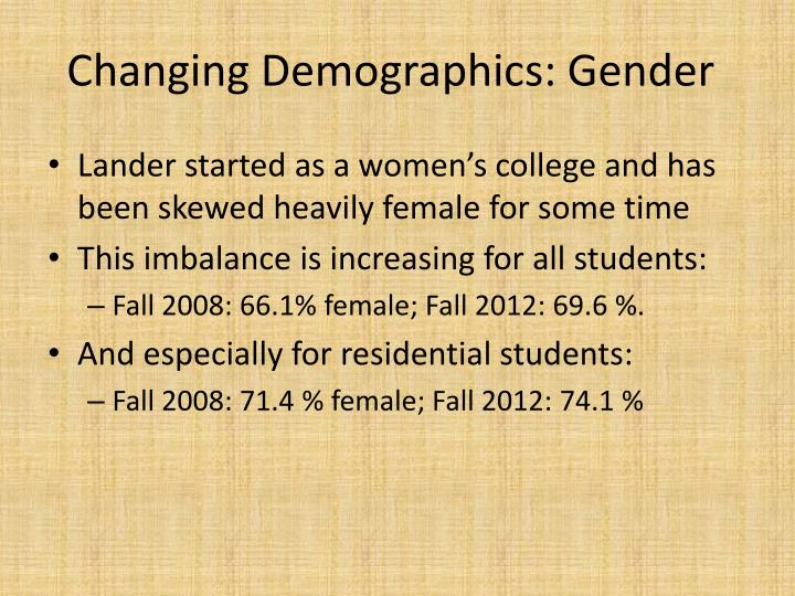 Changing Demographics: Gender