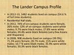 the lander campus profile