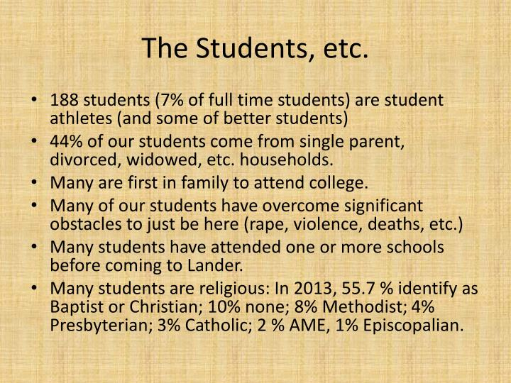 The Students, etc.