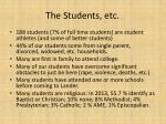the students etc