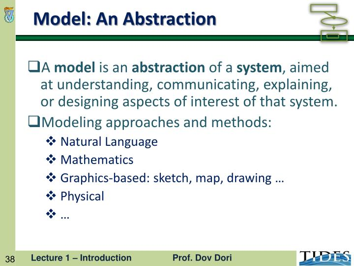 Model: An Abstraction