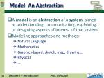 model an abstraction