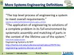 more systems engineering definitions