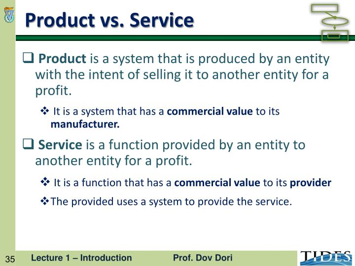 Product vs. Service