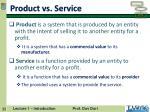 product vs service