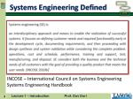 systems engineering defined
