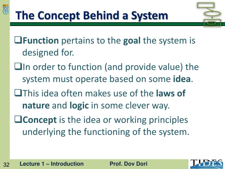 The Concept Behind a System