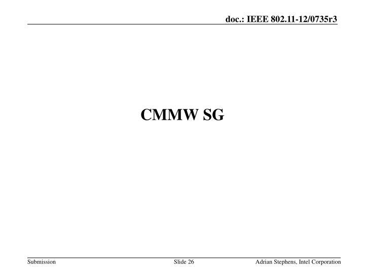 CMMW SG