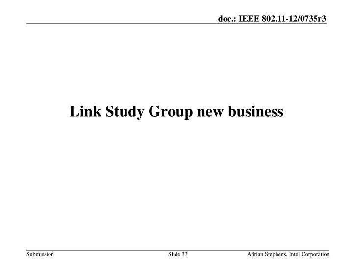 Link Study Group new business