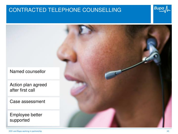 CONTRACTED TELEPHONE COUNSELLING