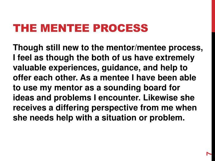 The mentee process