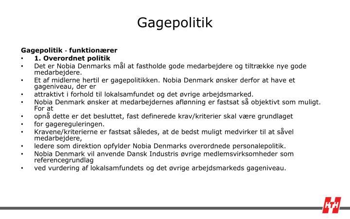 Gagepolitik