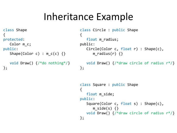 Inheritance Example