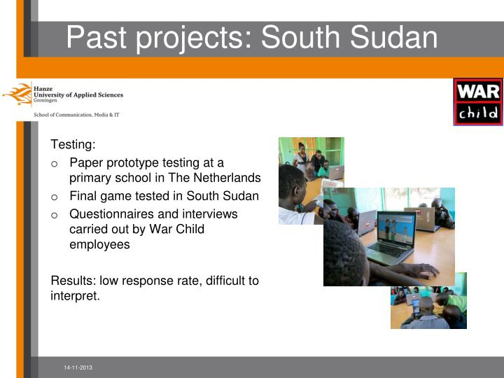 Past projects: South Sudan