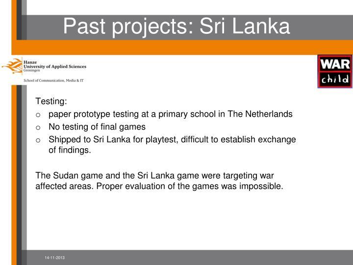Past projects: Sri Lanka