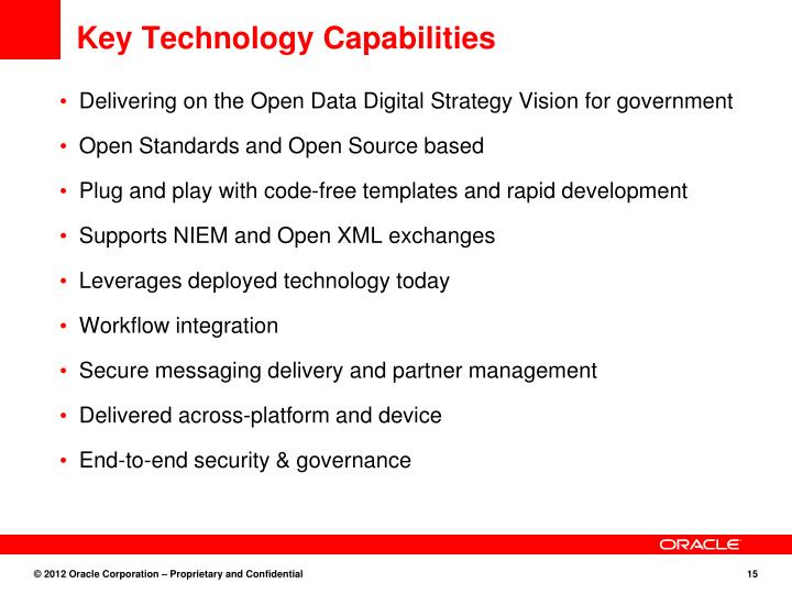 Key Technology Capabilities