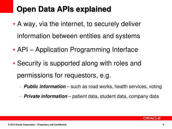 Open Data APIs explained