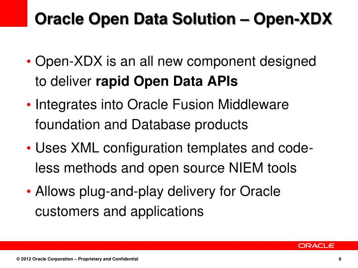 Oracle Open Data Solution – Open-XDX