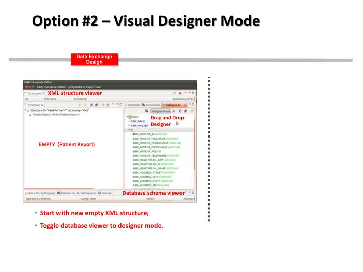 Option #2 – Visual Designer Mode