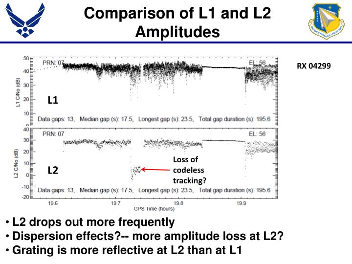 Comparison of L1 and L2 Amplitudes