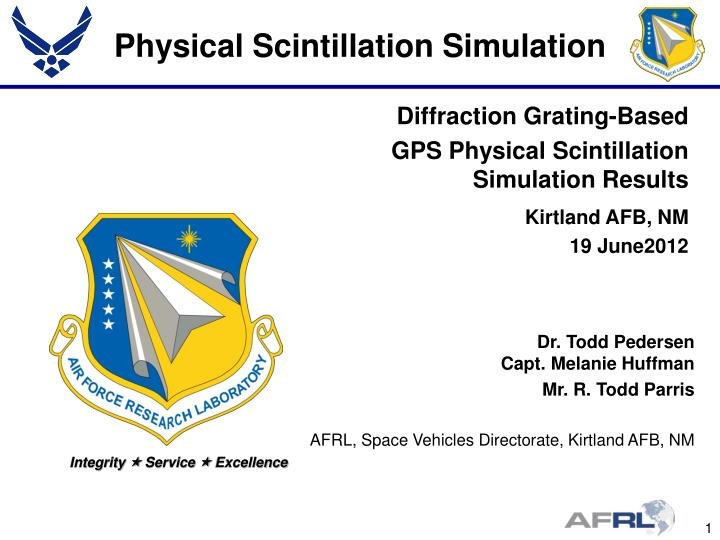 Physical scintillation simulation