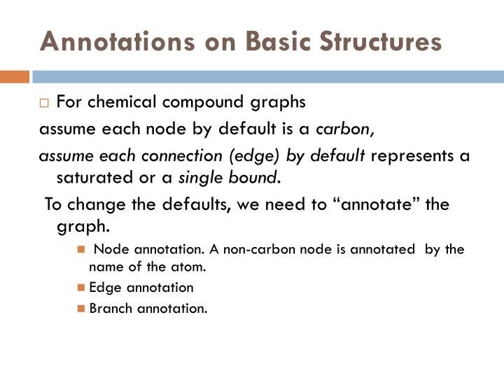 Annotations on Basic Structures