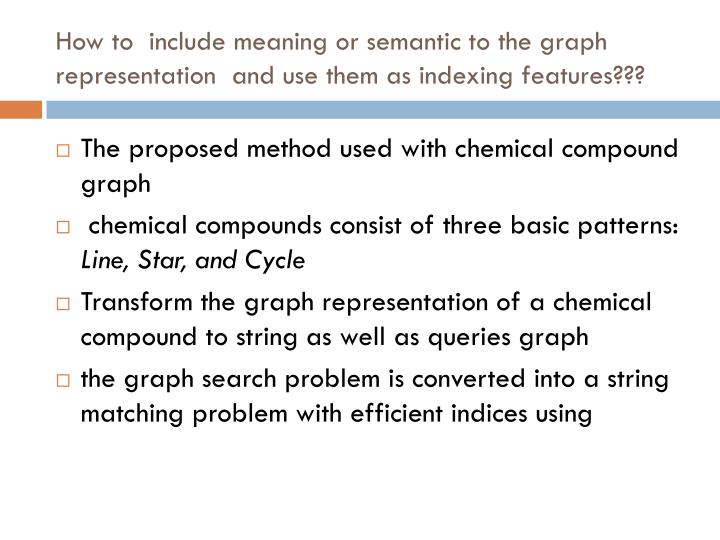 How to  include meaning or semantic to the graph representation  and use them as indexing features???