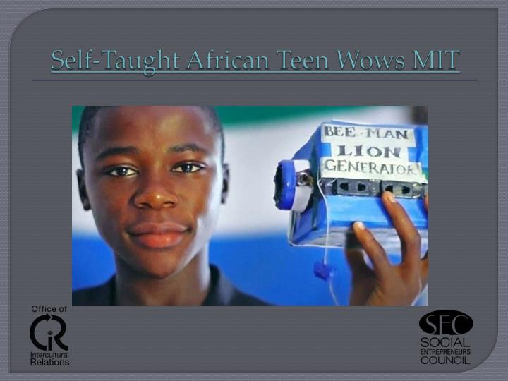 Self taught african teen wows mit