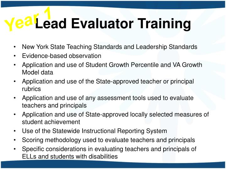 Lead evaluator training1