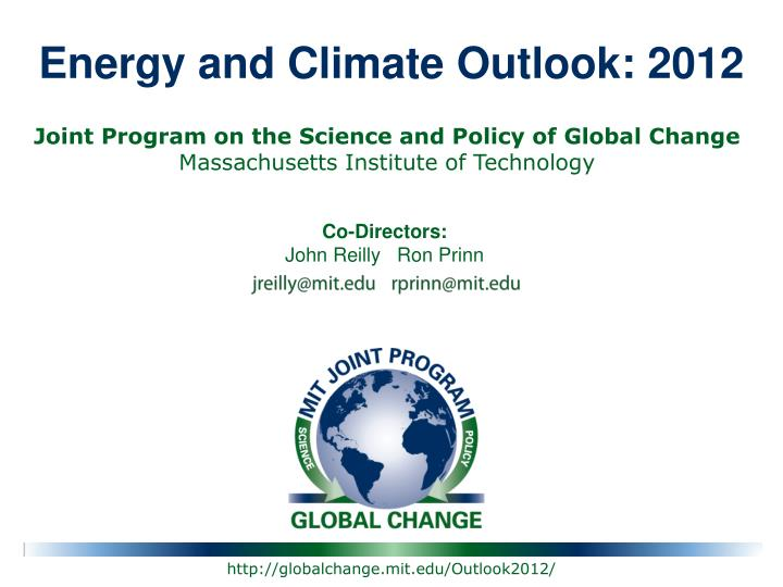 Energy and climate outlook 2012