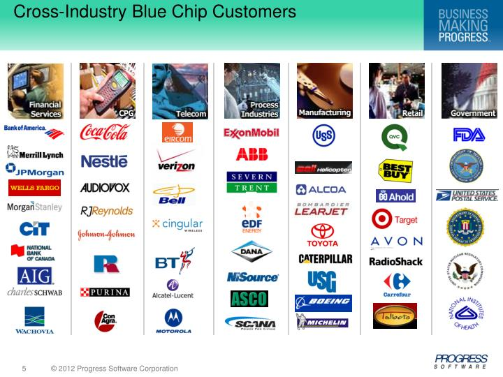 Cross-Industry Blue Chip Customers